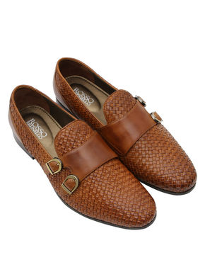 Weaved Leather Monk Straps