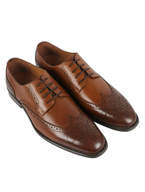 Burnished Leather Brogue Shoes
