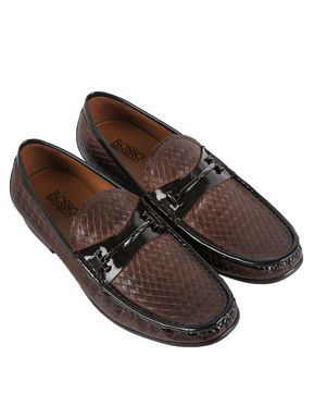 Weave Design Penny Loafers