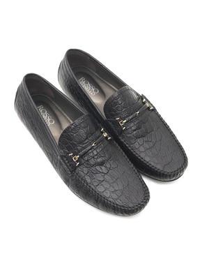 Crocodile Leather Moccasins