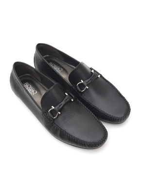 Embossed Leather Moccasins