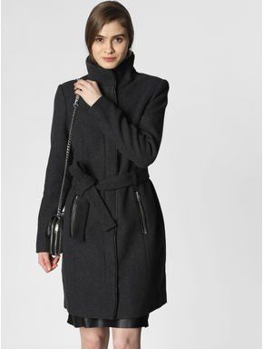 Dark Grey High Neck Coat