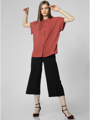 Brick Red Striped Shirt
