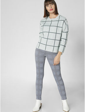 Light Green Check Pullover