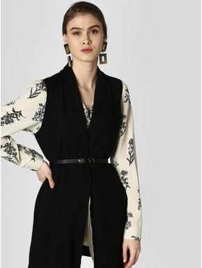 Black Front Open Shrug