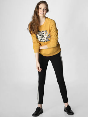 X Lion King Mustard Text Print Sweatshirt