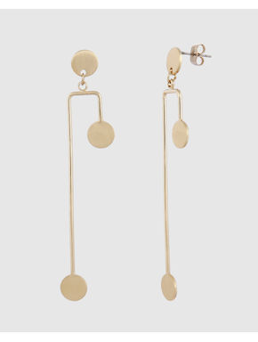 Gold Colour Drop Earrings