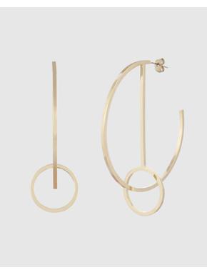 Gold Colour Circular Hoops