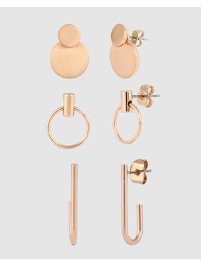 Rose Gold Earring Set