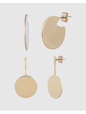 Gold Colour Earring Set