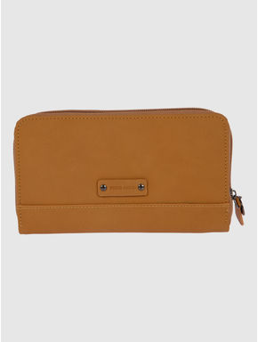 Brown Cut Work Embroidery Wallet