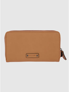 Tan Colour Blocked Wallet