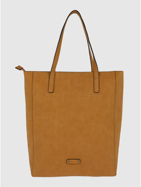 Brown Cut Work Embroidery Tote Bag