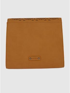 Brown Cut Work Embroidery Sling Bag