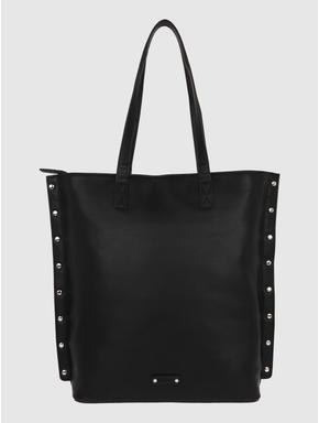 Black Stud Detail Tote Bag