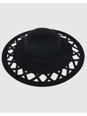 Black Straw Beach Hat