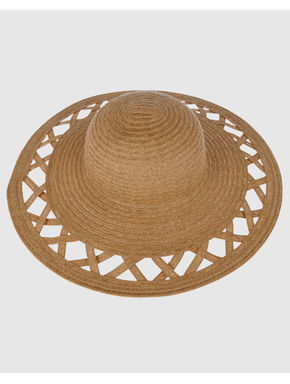 Beige Straw Beach Hat