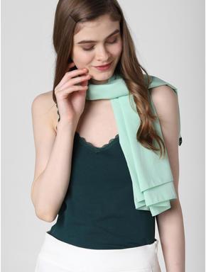 Green Lace Insert Singlet