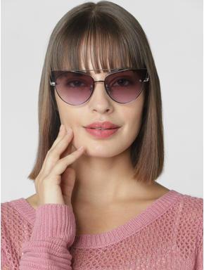 Silver Cat Eye Sunglasses