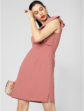 Nude One Shoulder Mini Dress