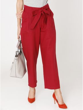 Red Belted Pants