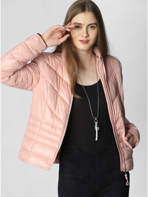 Peach Puffer Jacket
