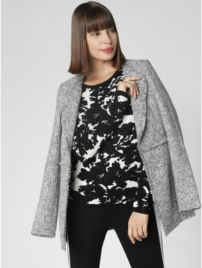 Black Printed Pullover