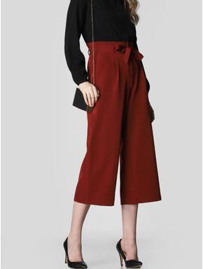 Brown Paper Bag Waist Culottes