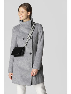 Light Grey Belted Coat