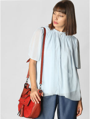 Light Blue Flared Top