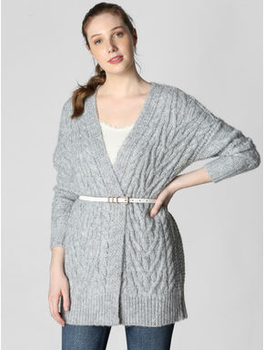 Grey Oversized Cardigan
