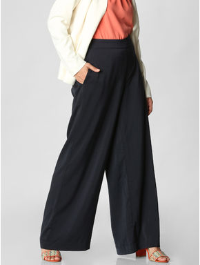 Navy Blue Flared Pants