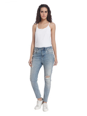 Solid Casual Jeans