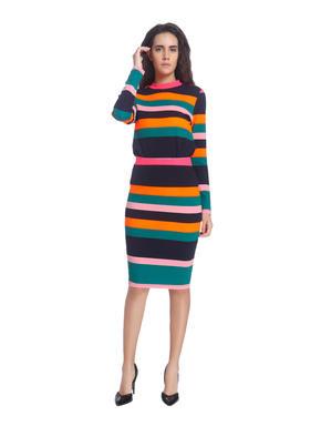 Stripes Broad Casual Mini Skirt