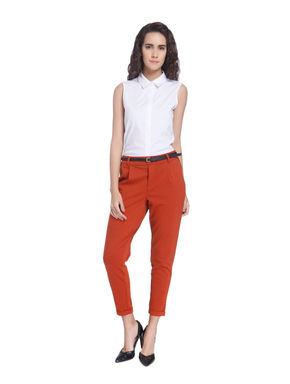 Solid Casual Pant