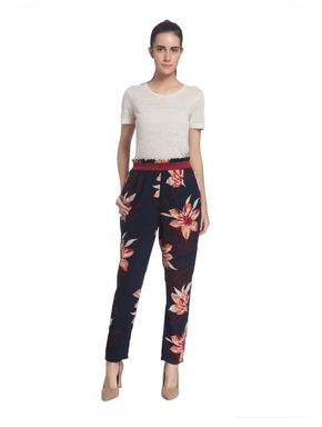 Floral Print Casual Trouser