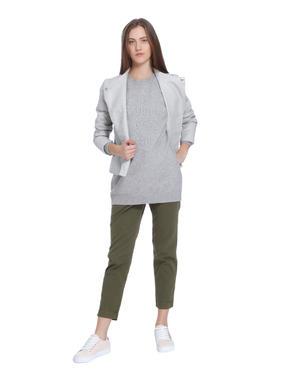 Light Grey Long Sweater