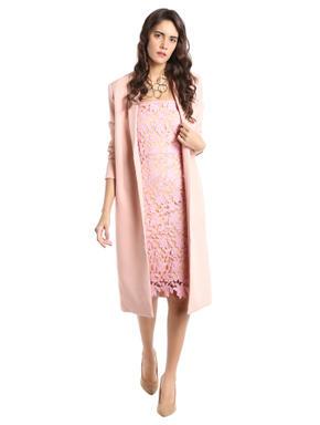 Pink Crochet Tube Bodycon Dress