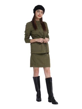 Olive Green Short Skirt