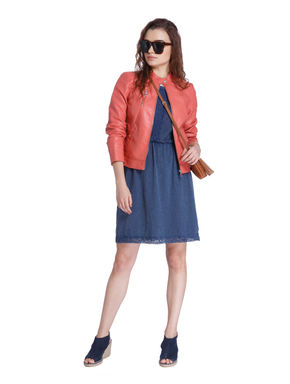 Red PU Short Jacket