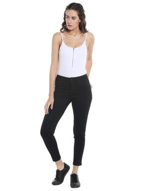Black Cropped Slim Jeans