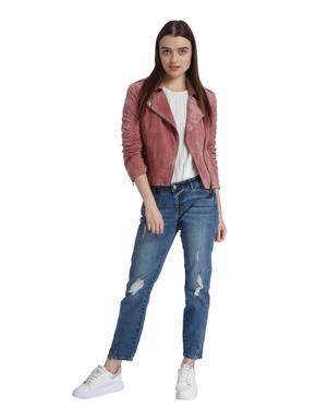 Dark Blue Low Waist Cropped Jeans