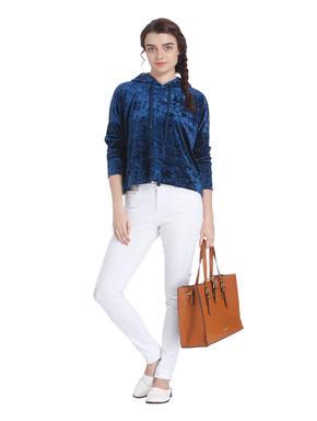 Blue Velvet Hoodie Sweatshirt