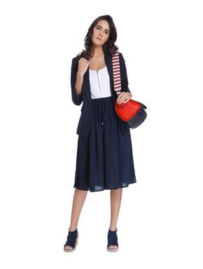 Dark Blue Midi Skirt
