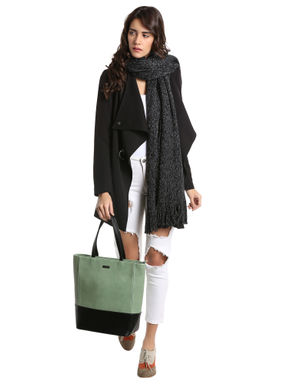 Black Wrap Long Jacket