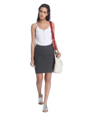 Formal Grey Pencil Skirt