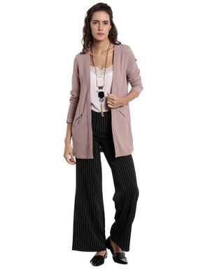 Light Purple Long Blazer