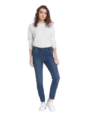 Dark Blue Super Skinny High Waist Jeans