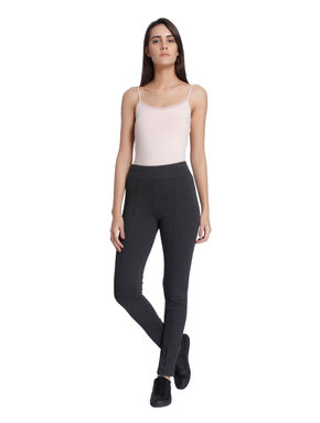 Dark Grey Pintuck Leggings