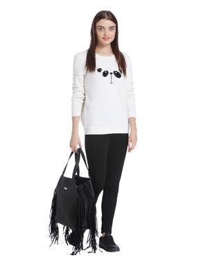 Off White Panda Print Sweatshirt